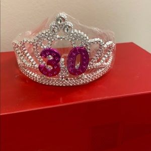 Birthday Tiara: 30th birthday.  NWT.  Unused.